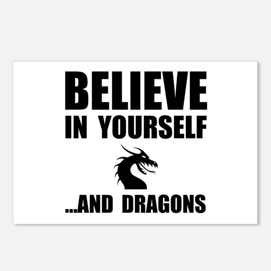 Believe Yourself Dragons Postcards (Package of 8)