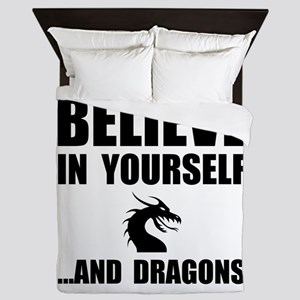Believe Yourself Dragons Queen Duvet