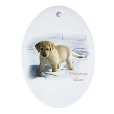 Labrador Retriever Christmas Oval Ornament