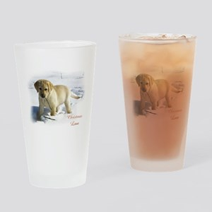 Labrador Retriever Christmas Drinking Glass