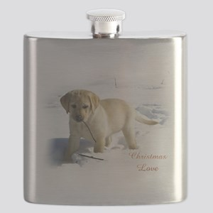 Labrador Retriever Christmas Flask
