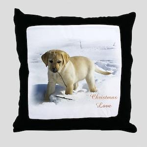 Labrador Retriever Christmas Throw Pillow