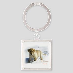 Labrador Retriever Christmas Square Keychain