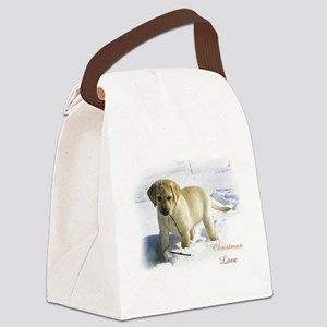 Labrador Retriever Christmas Canvas Lunch Bag