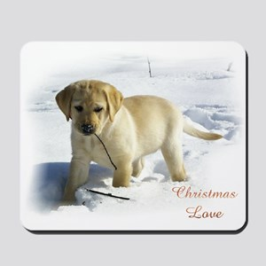 Labrador Retriever Christmas Mousepad