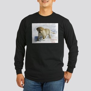 Labrador Retriever Christ Long Sleeve Dark T-Shirt