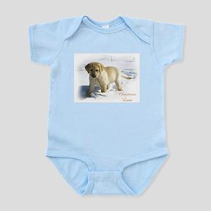 Labrador Retriever Christmas Baby Light Bodysuit