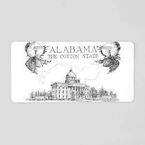 Vintage Alabama Cotton Aluminum License Plate