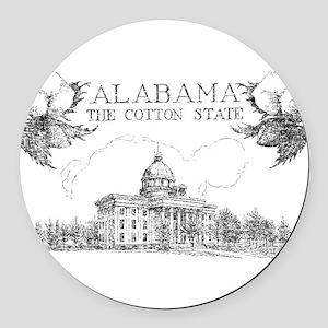 Vintage Alabama Cotton Round Car Magnet