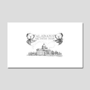 Vintage Alabama Cotton Car Magnet 20 x 12