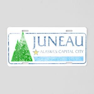 Vintage Juneau Alaska Aluminum License Plate