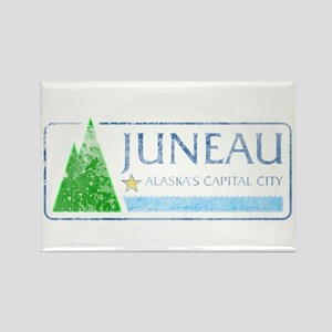 Vintage Juneau Alaska Rectangle Magnet