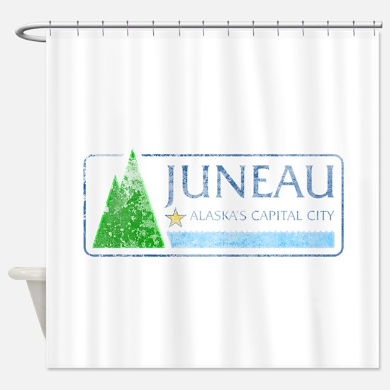 Vintage Juneau Alaska Shower Curtain