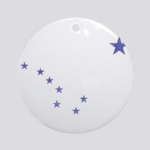 Faded Alaska State Flag Ornament (Round)
