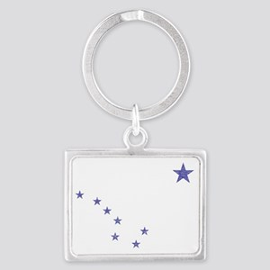 Faded Alaska State Flag Keychains