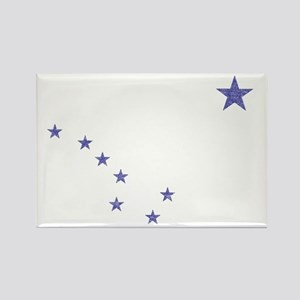 Faded Alaska State Flag Rectangle Magnet