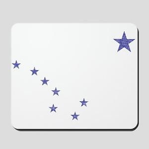 Faded Alaska State Flag Mousepad