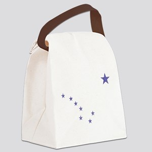 Faded Alaska State Flag Canvas Lunch Bag