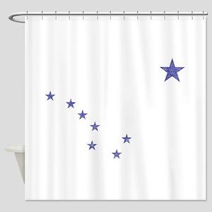 Faded Alaska State Flag Shower Curtain