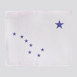 Faded Alaska State Flag Throw Blanket