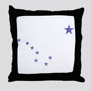 Faded Alaska State Flag Throw Pillow