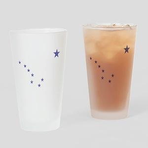 Faded Alaska State Flag Drinking Glass