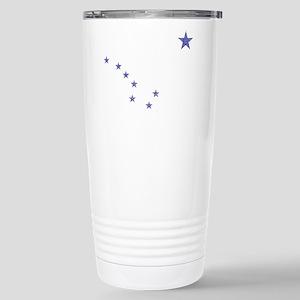 Faded Alaska State Flag Travel Mug