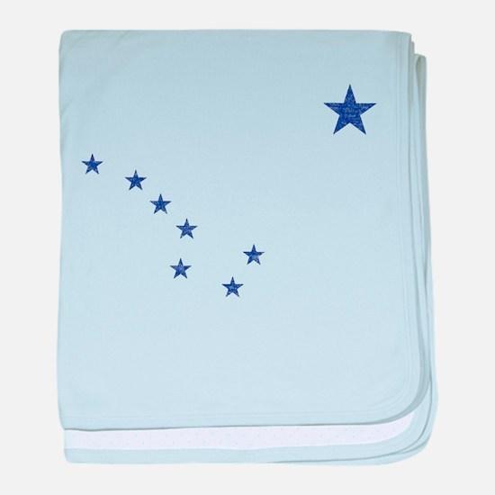Faded Alaska State Flag baby blanket