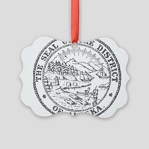 Vintage Alaska State Seal Ornament