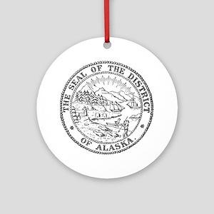 Vintage Alaska State Seal Ornament (Round)