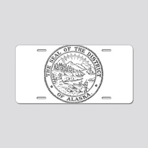 Vintage Alaska State Seal Aluminum License Plate