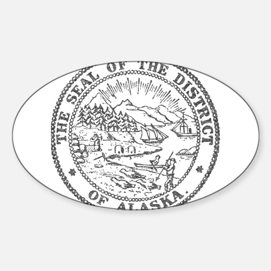 Vintage Alaska State Seal Decal