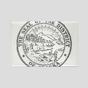 Vintage Alaska State Seal Rectangle Magnet