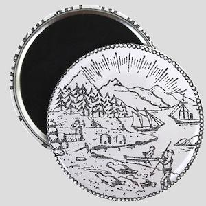 Vintage Alaska State Seal Magnet