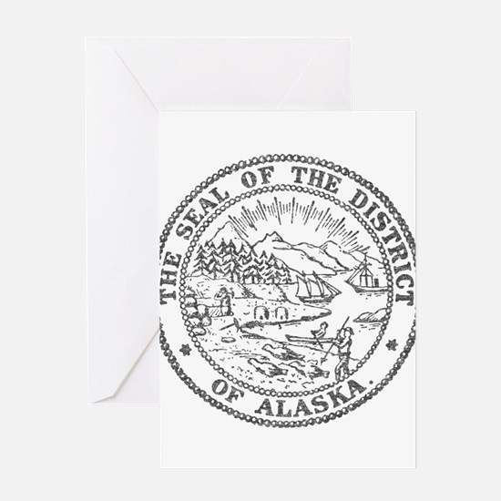 Vintage Alaska State Seal Greeting Card