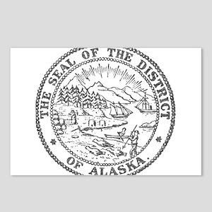 Vintage Alaska State Seal Postcards (Package of 8)