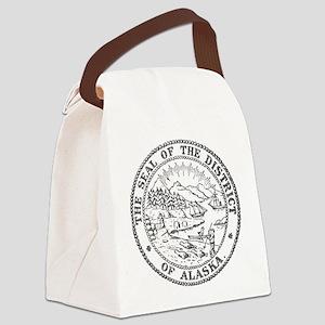 Vintage Alaska State Seal Canvas Lunch Bag