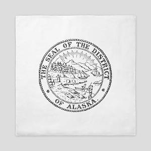 Vintage Alaska State Seal Queen Duvet