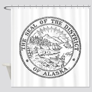 Vintage Alaska State Seal Shower Curtain