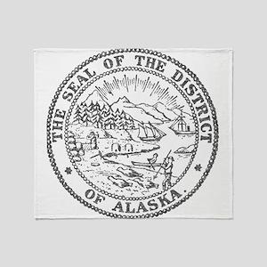 Vintage Alaska State Seal Throw Blanket