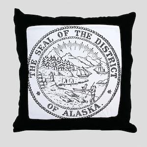 Vintage Alaska State Seal Throw Pillow