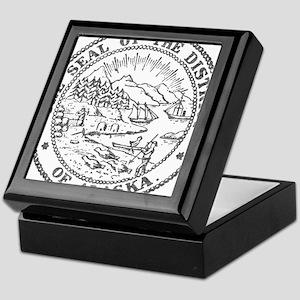 Vintage Alaska State Seal Keepsake Box