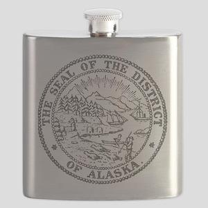 Vintage Alaska State Seal Flask