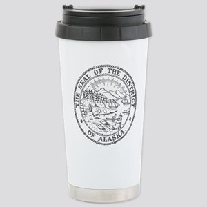 Vintage Alaska State Seal Travel Mug