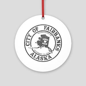 Vintage Fairbanks Alaska Ornament (Round)