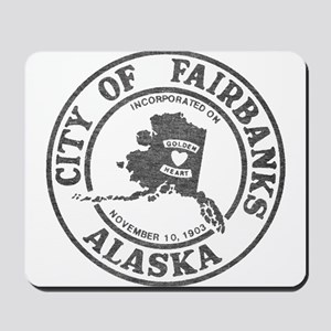 Vintage Fairbanks Alaska Mousepad