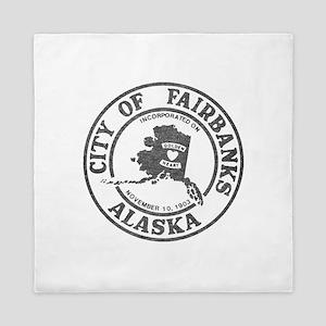 Vintage Fairbanks Alaska Queen Duvet