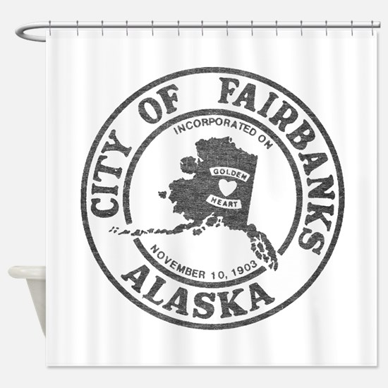Vintage Fairbanks Alaska Shower Curtain