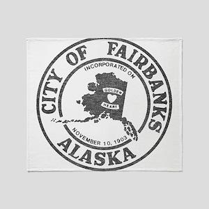 Vintage Fairbanks Alaska Throw Blanket