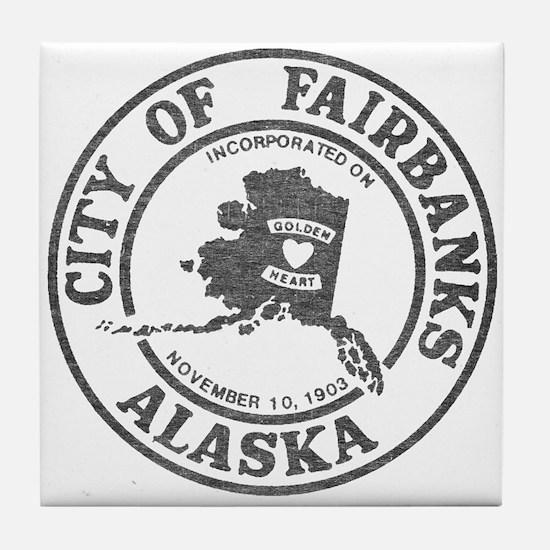 Vintage Fairbanks Alaska Tile Coaster